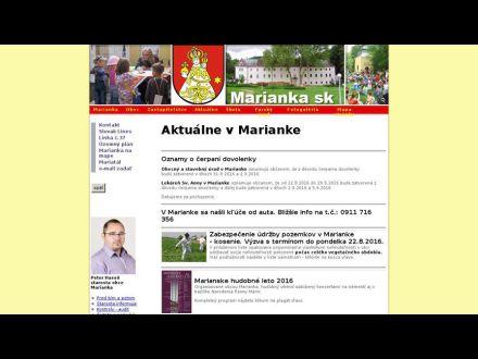 www.marianka.sk