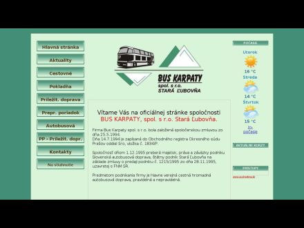 www.buskarpaty.sk