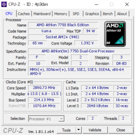 AMD Athlon 7750 Dual Core 2 7 Ghz Black Edition