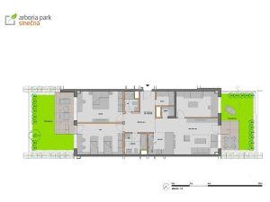 PRAKTICKÝ PôDORYS - 4i byt 165 m² + 2 terasy v Arborii