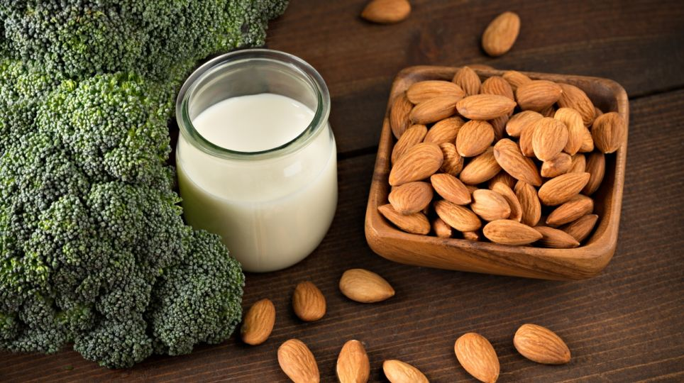 Almonds, Broccoli And Milk