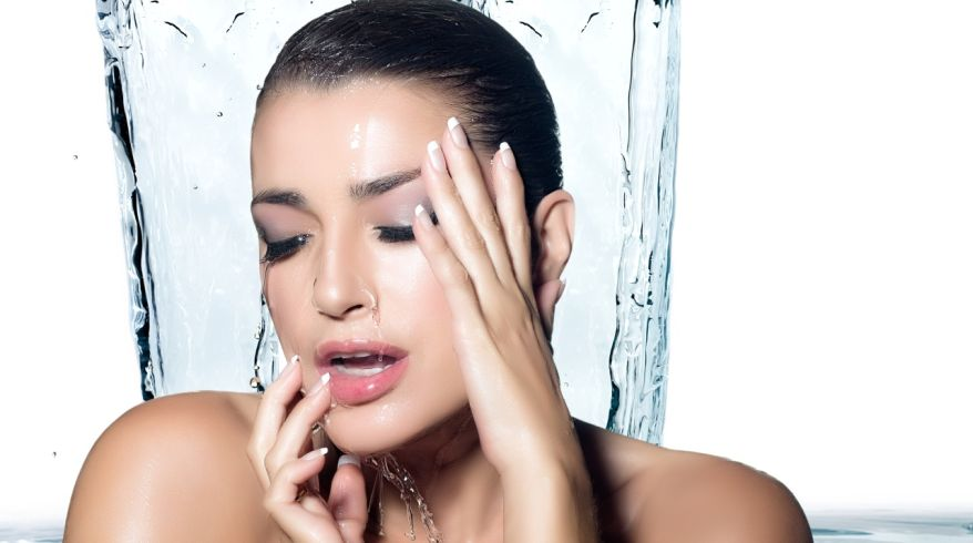 Young Sensuality Woman Showering. Spa Treatment