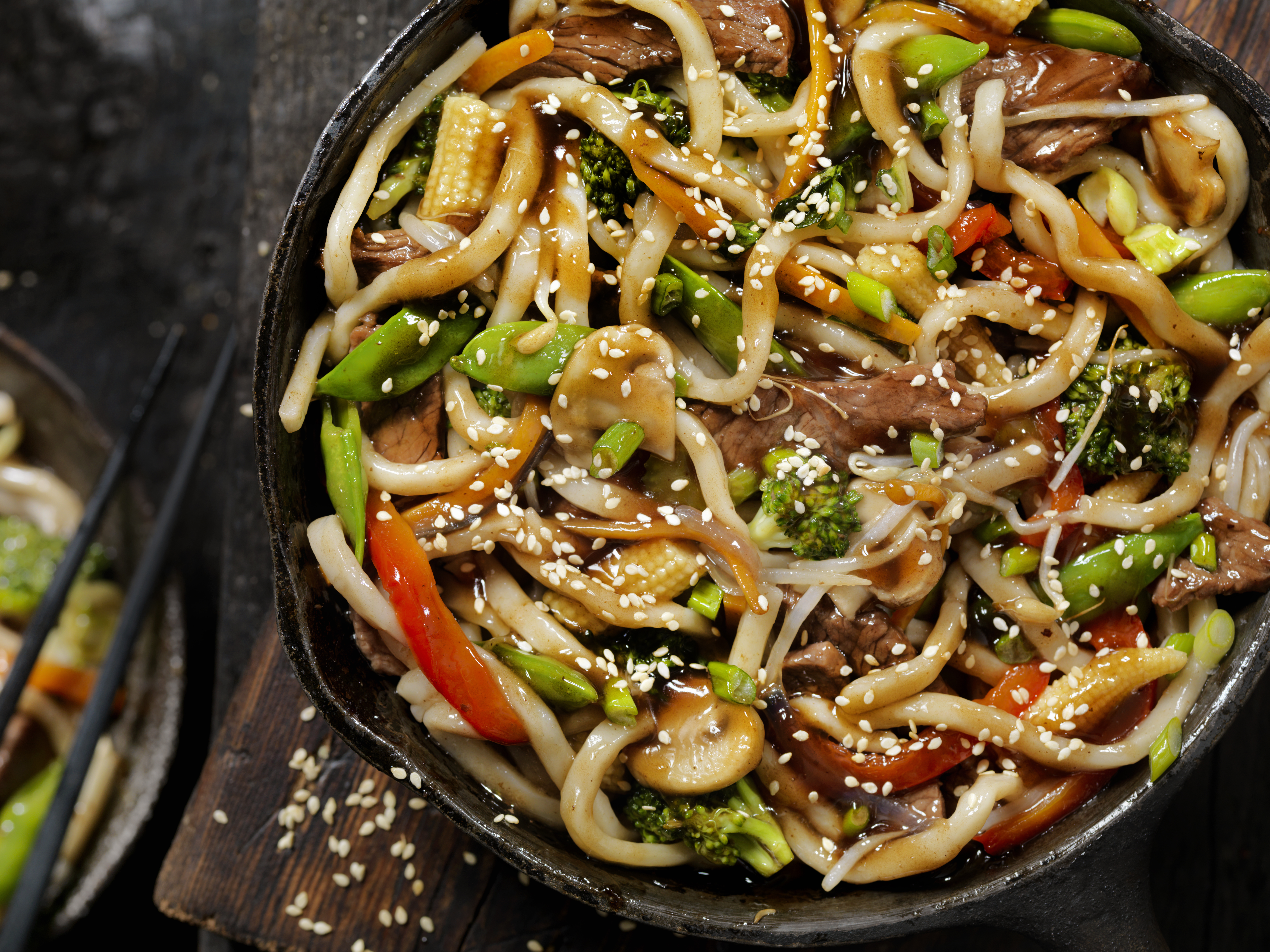 Beef and Broccoli With Udon Noodle Stir Fry