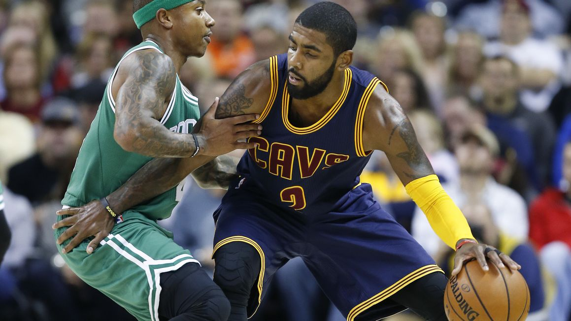 Isaiah Thomas (Boston Celtics) a Kyrie Irving (Cleveland Cavaliers)