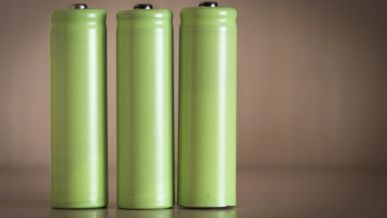 Three electric batteries