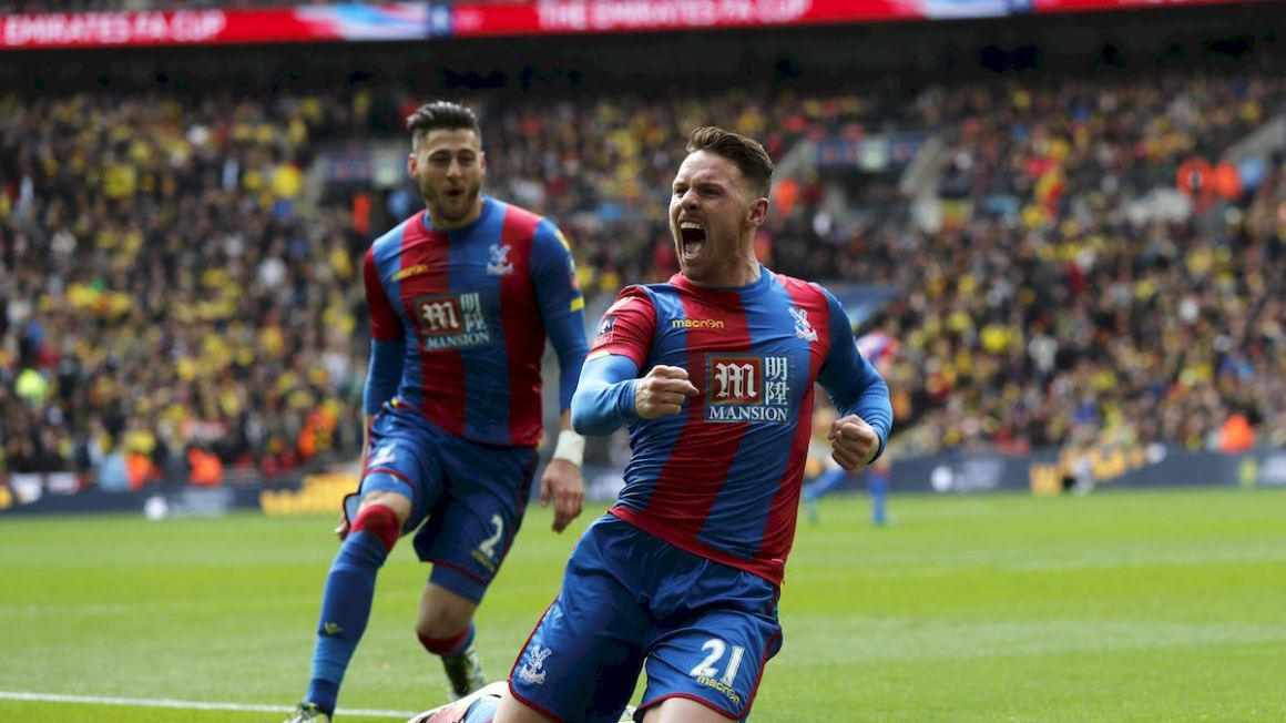 Crystal Palace Connor Wickham Joel Ward FA Cup apr16 Reuters