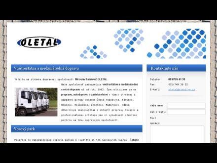 www.oletal-preprava.sk/