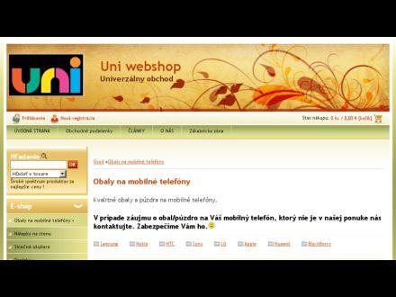 www.uniwebshop.sk/uniwebshop/eshop/11-1-Obaly-na-mobilne-telefony