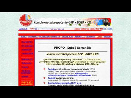 www.propo.sk