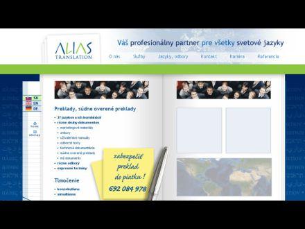 www.aliastranslation.sk