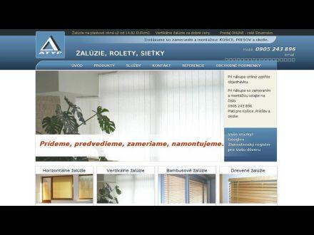 www.atyp-zaluzie.sk