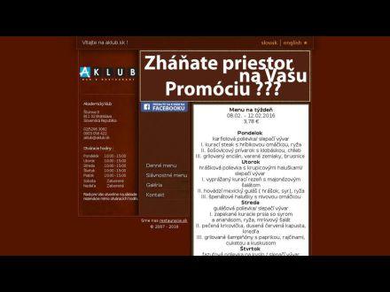 www.aklub.sk