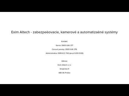 www.eximaltech.sk