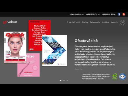www.valeur.sk