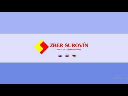 www.zber-surovin.sk