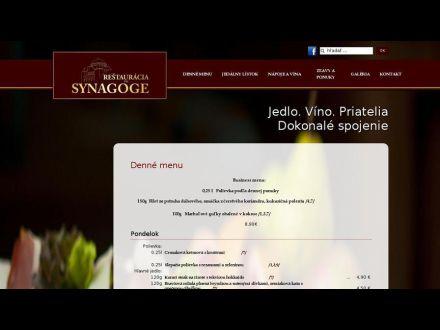 www.restauraciaprisynagoge.sk