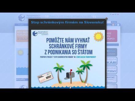 www.transparency.sk