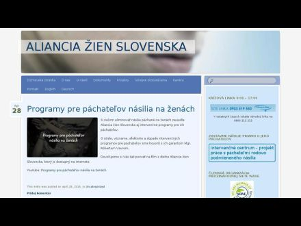 www.alianciazien.sk