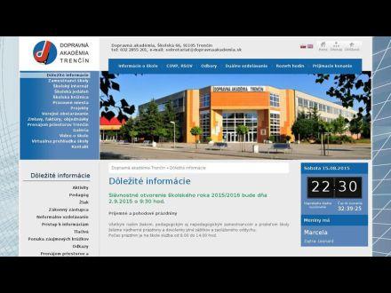 www.dopravnaakademia.sk