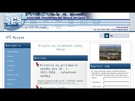 www.spsmyj.sk
