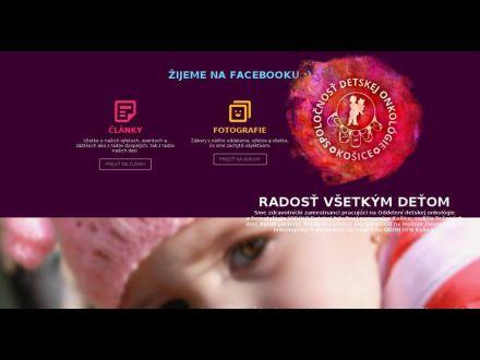 www.detskaonkologia.sk