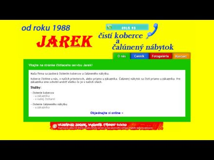 www.jarekcistikoberce.sk