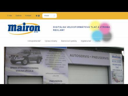 www.mairon.sk