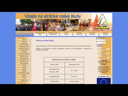 www.zsoravskalesna.sk