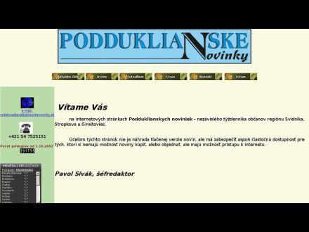 www.podduklianskenovinky.sk