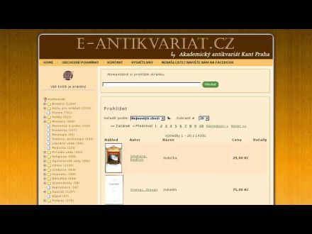 www.e-antikvariat.cz