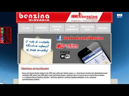 www.benzina.sk