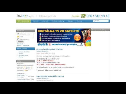 www.dalnet.sk