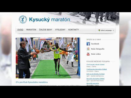 www.kysuckymaraton.sk