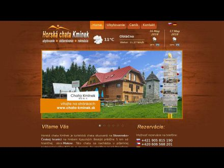 www.chata-kminek.sk