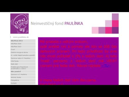 www.paulinka.sk