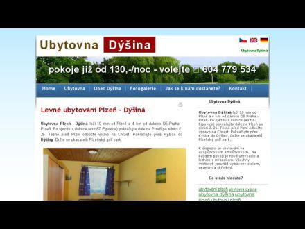www.ubytovna-dysina.cz