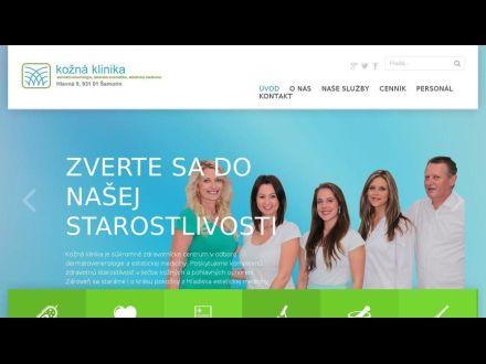 www.koznaklinika.sk