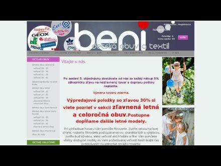 www.beni.sk