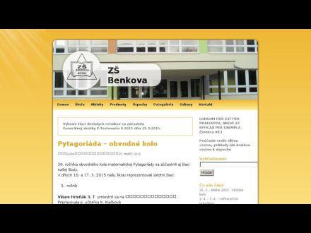 www.zsbenkova.org