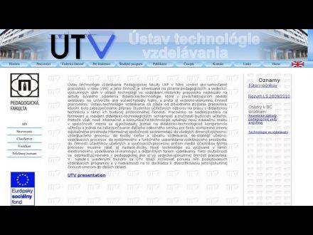 www.utv.pf.ukf.sk