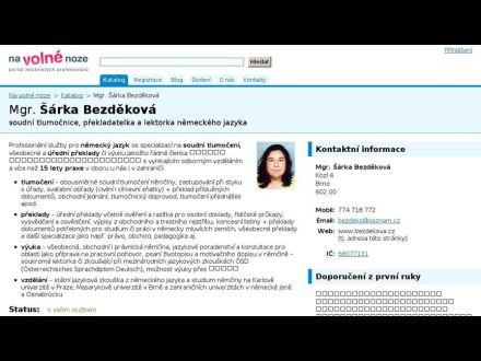 www.bezdekova.cz