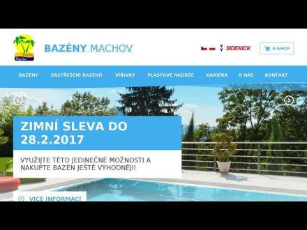 www.bazenymachov.cz