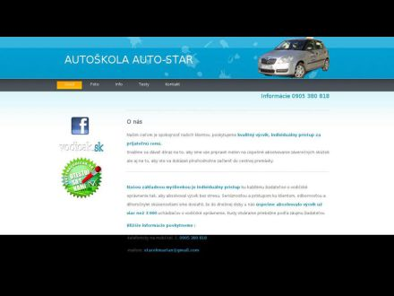 www.autoskolaautostar.sk