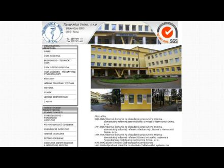 www.nemocnicasnina.sk