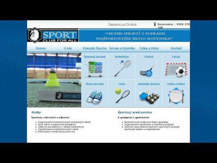 www.sportclubforall.sk