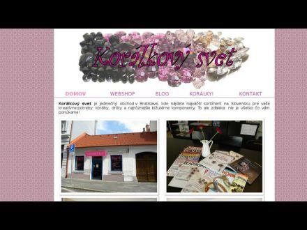 www.koralkovysvet.sk