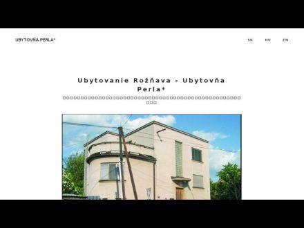 www.ubytovnaperla.eu