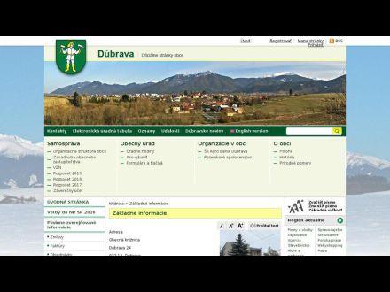 www.obecdubrava.sk/zakladne-informacie.phtml