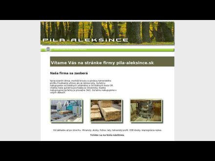 www.pila-aleksince.sk