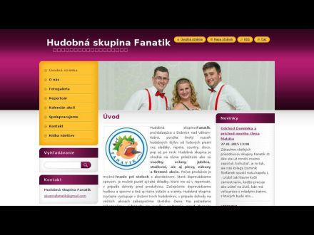 www.hudobnaskupinafanatik.webnode.sk